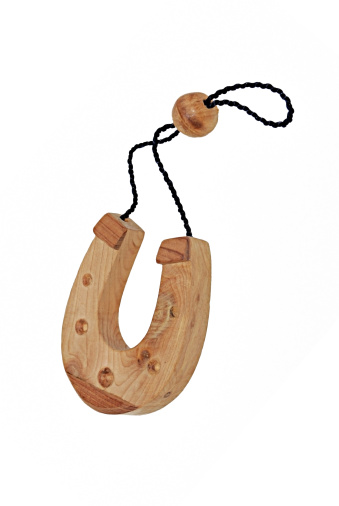 Good luck「wooden horseshoe for luck. isolated」:スマホ壁紙(19)