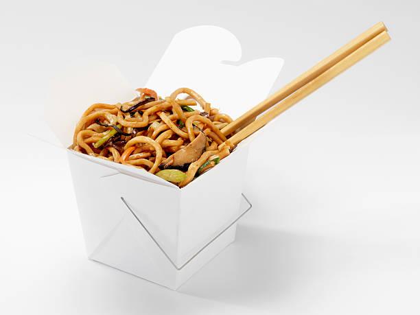 Chinese Shanghai Noodles with Chopsticks:スマホ壁紙(壁紙.com)