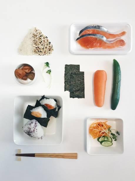 Onigiri, Japanese Rice Balls Knolling Style:スマホ壁紙(壁紙.com)