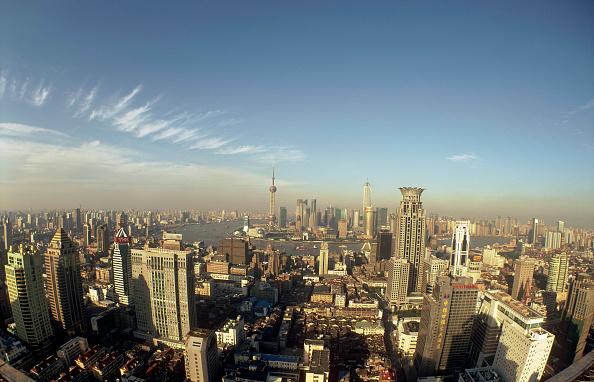 都市景観「Shanghai panoramic view from city center, Shanghai, China」:写真・画像(13)[壁紙.com]