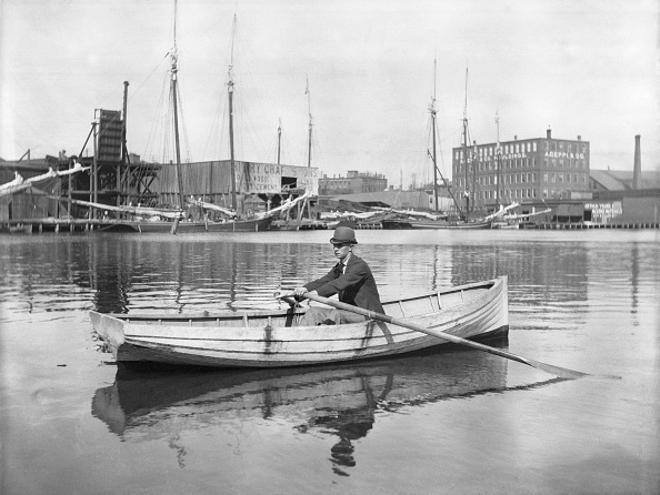 Ship「Man Rowing Boston Harbour」:写真・画像(18)[壁紙.com]