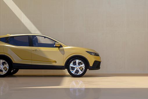 Marketing「Generic modern car against concrete wall」:スマホ壁紙(18)