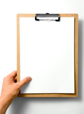 Hand「Blank Clipboard」:スマホ壁紙(19)