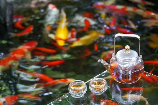 Carp「The tea service of the pond」:スマホ壁紙(18)