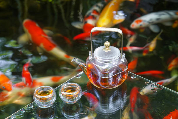 The tea service of the pond:スマホ壁紙(壁紙.com)