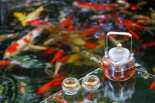 Carp「The tea service of the pond」:スマホ壁紙(9)