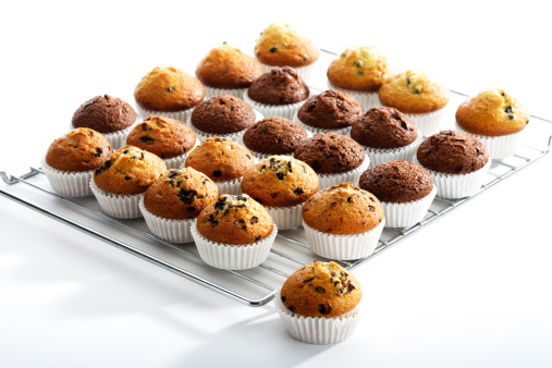 Biscuit「Muffins on backing grid」:スマホ壁紙(15)