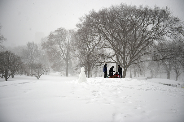 マンハッタン セントラルパーク「Huge Snow Storm Slams Into Mid Atlantic States」:写真・画像(13)[壁紙.com]