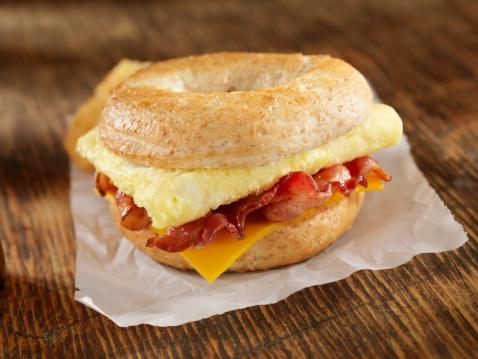 Bun - Bread「Bacon and Egg Breakfast Sandwich」:スマホ壁紙(2)