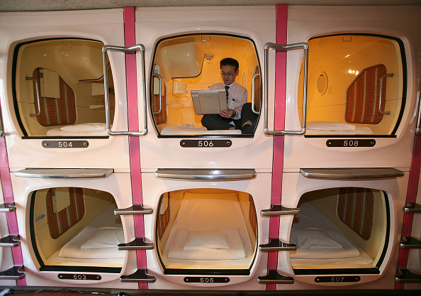 Tokyo - Japan「Tokyo's Tube Hotels Attracts Foreign Travellers」:写真・画像(15)[壁紙.com]