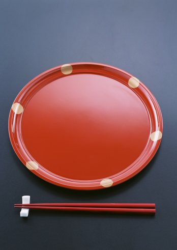 赤「Japanese traditional tray and chopsticks」:スマホ壁紙(10)