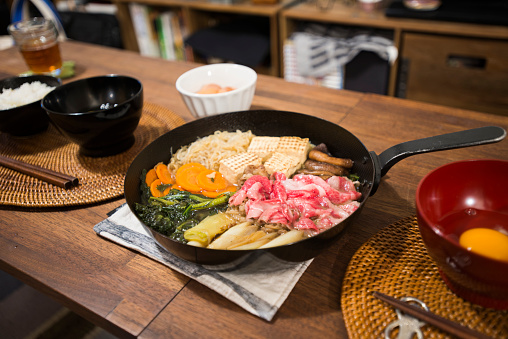 Japanese Food「Japanese traditional cuisine Sukiyaki.」:スマホ壁紙(9)