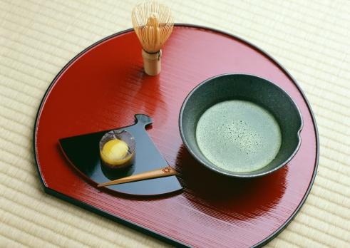 Wagashi「Powdered Green Tea and Japanese Sweet」:スマホ壁紙(4)