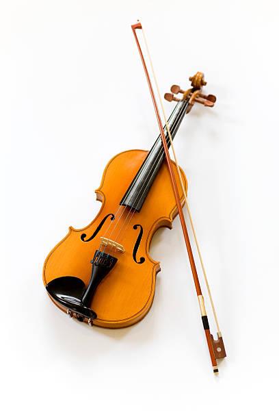 Violin on white background:スマホ壁紙(壁紙.com)