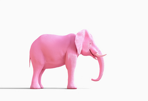 Imagination「Pink elephant statue」:スマホ壁紙(14)