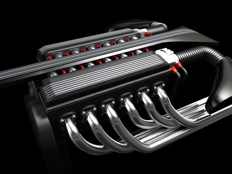 Sports Car「V12 Engine on dark background」:スマホ壁紙(11)