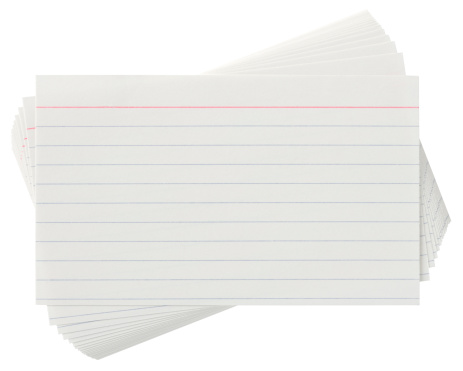 Fanned Out「Lined Index cards on white with clipping path」:スマホ壁紙(17)