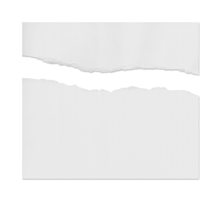 Cut Or Torn Paper「Ragged White Paper」:スマホ壁紙(2)