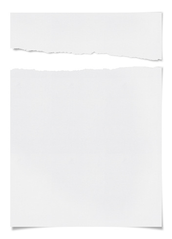 Cut Or Torn Paper「Ragged White Paper」:スマホ壁紙(16)