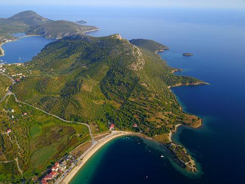 Halkidiki「Summer on beautiful sandy beaches in Mediterranean Sea, Greece」:スマホ壁紙(11)