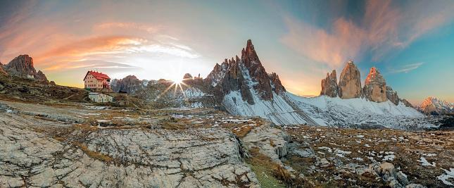 クライミング「Panorama Dreizinnenhütte-Rifugio ミザハールロカテッリ」:スマホ壁紙(14)