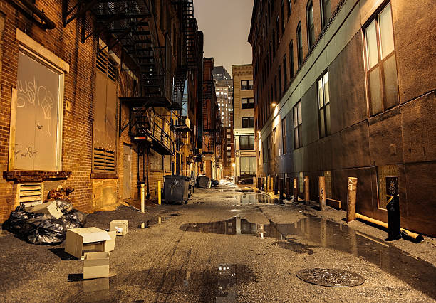 Dark Urban Street:スマホ壁紙(壁紙.com)