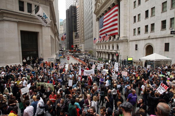 Finance「Rally At Wall Street Protests Financial Bailout」:写真・画像(18)[壁紙.com]