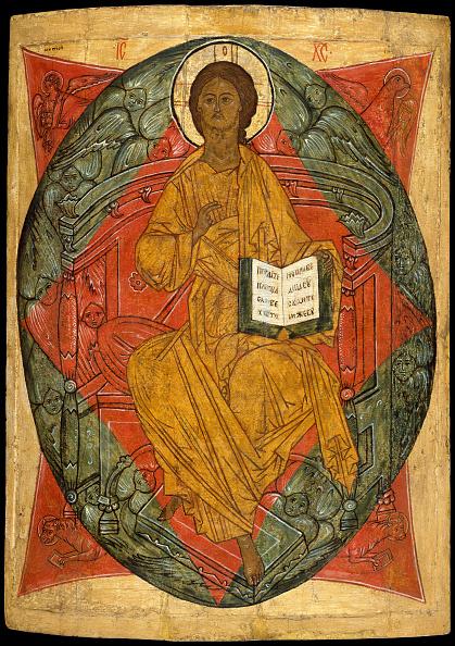 Painted Image「Christ In Glory. Creator: Russian (Novgorod?) Painter (Late 15Th Century).」:写真・画像(17)[壁紙.com]