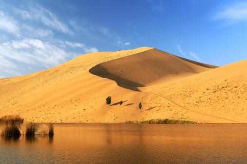 アウバリ砂海「Desert in Inner Mongolia」:スマホ壁紙(1)