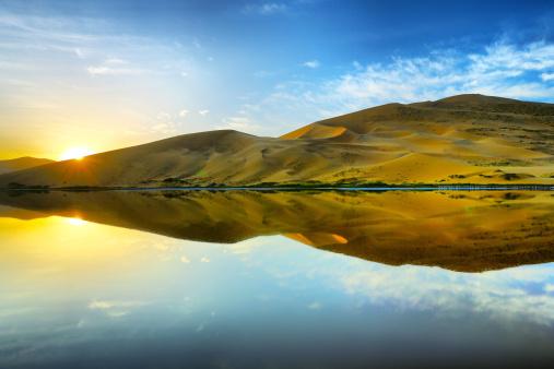 アウバリ砂海「Desert in Inner Mongolia」:スマホ壁紙(12)