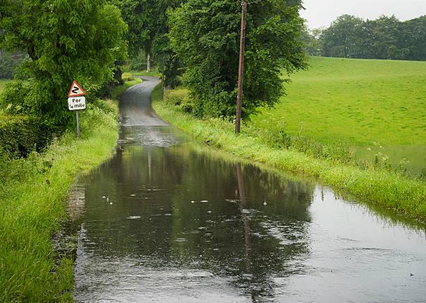 Flooded Country Road:スマホ壁紙(壁紙.com)