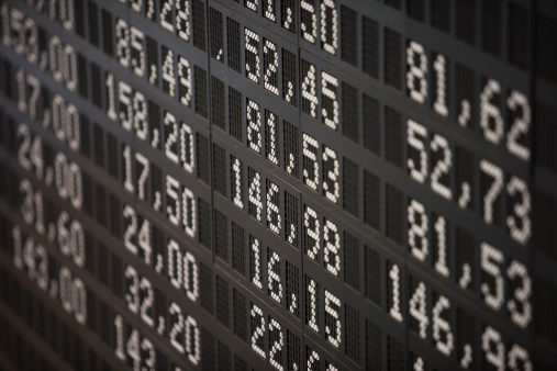 Number「Deutsche Borse Stock Exchange trading floor display.」:スマホ壁紙(9)