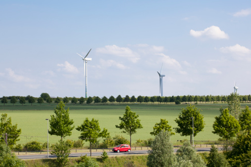 Car「Germany, Hanover, wind turbines and enviroment」:スマホ壁紙(13)