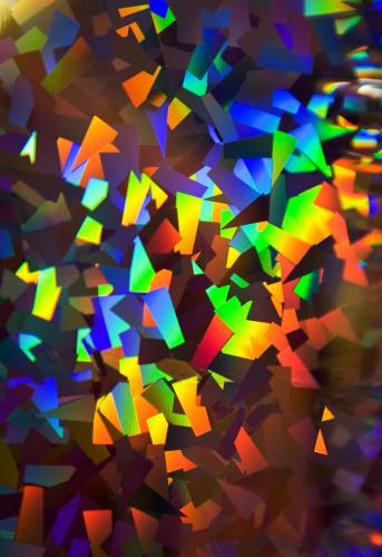 Colorful「輝くマルチカラーのホログラムの包装紙」:スマホ壁紙(7)