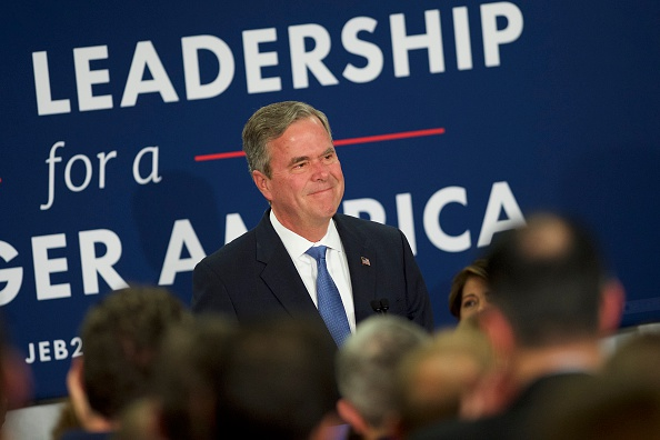 Jeb Bush「Republican Presidential Candidate Jeb Bush Holds South Carolina Primary Night Gathering」:写真・画像(1)[壁紙.com]