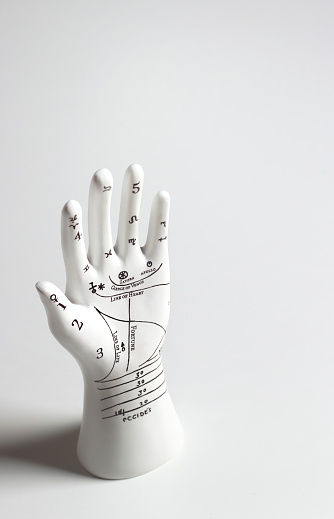 Palm of Hand「Palmistry hand with copy space」:スマホ壁紙(12)