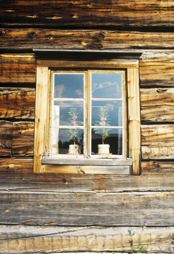 Finland「Finland, Lieksa, Pielinen Museum, Old wooden house, close-up」:スマホ壁紙(16)