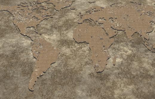 世界の風景(地域別)「Global Drought」:スマホ壁紙(2)
