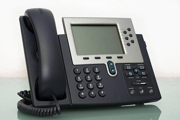 Digital VoIP phone, white background:スマホ壁紙(壁紙.com)