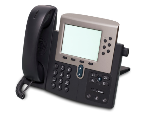 Studio - Workplace「Digital VoIP phone, isolated on white background」:スマホ壁紙(19)