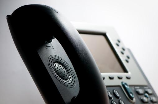 Conference Phone「Digital VoIP phone, close-up, selective focus」:スマホ壁紙(17)