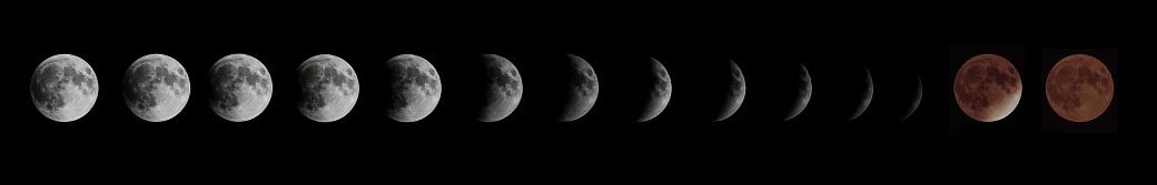 月「皆既月食とスーパームーン」:スマホ壁紙(1)