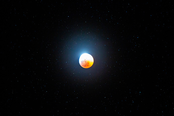 David McNew「Only Total Lunar Eclipse Of 2019 Appears As 'Super Blood Wolf Moon'」:写真・画像(0)[壁紙.com]