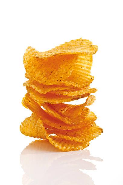 Stack of Potato chili chips, close-up:スマホ壁紙(壁紙.com)