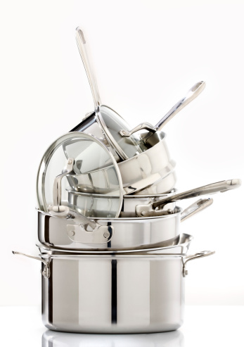 Kitchen Utensil「Stack of pots and pans」:スマホ壁紙(1)