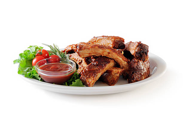 Stack of pork ribs:スマホ壁紙(壁紙.com)