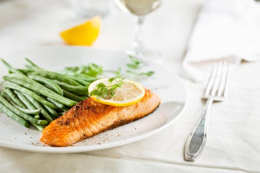 Chervil「salmon and vegetables」:スマホ壁紙(3)