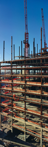 skyscraper「Steel erection at Canary Wharf, London, United Kingdom.」:写真・画像(4)[壁紙.com]