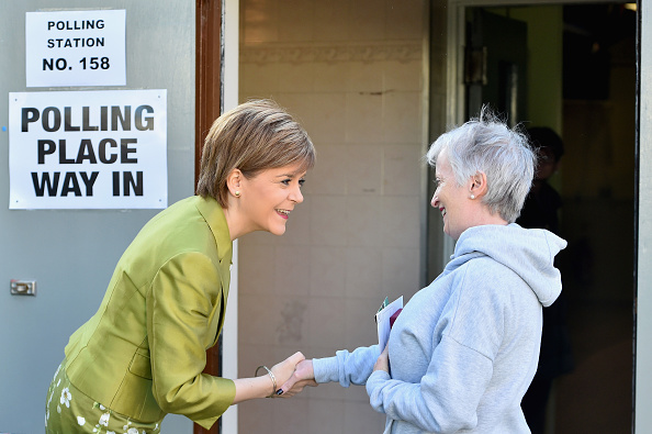 Politics and Government「Leader Of The SNP, Nicola Sturgeon, Casts Her Vote As The UK Goes To The Polls」:写真・画像(3)[壁紙.com]