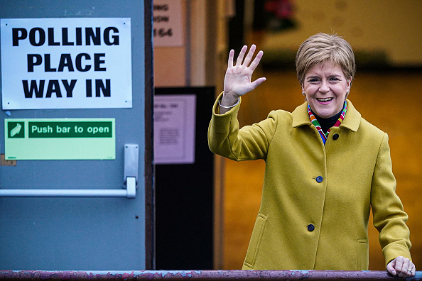 Glasgow - Scotland「British Political Leaders Cast Their Vote In The UK General Election」:写真・画像(8)[壁紙.com]